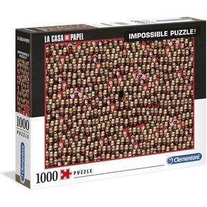Money Heist / La Casa de Papel  - nemoguće puzzle - idealan poklon za sve fanove! Puzzle: 69x50cm.  Dimenzije pakiranja: 37x28,1x5,5cm.