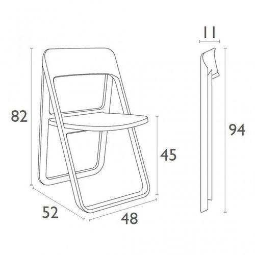Dizajnerske sklopive stolice — BOONEN • 2 kom. slika 3