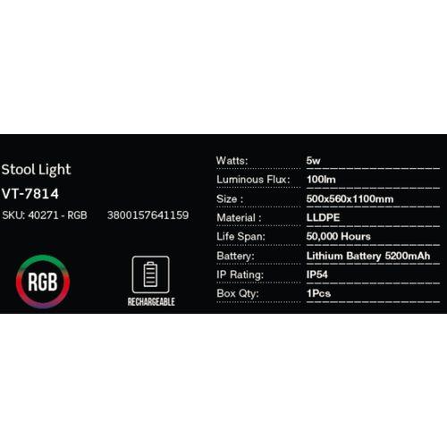LED bežična punjiva rasvjeta — BAR STOOL slika 2