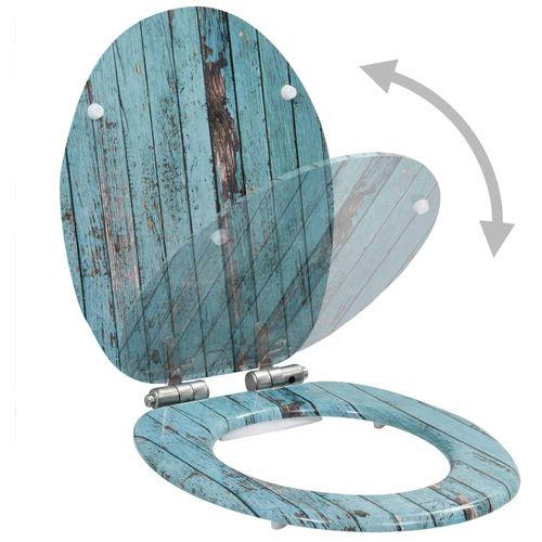 Toaletna daska s mekim zatvaranjem 2 kom MDF s uzorkom drva slika 3