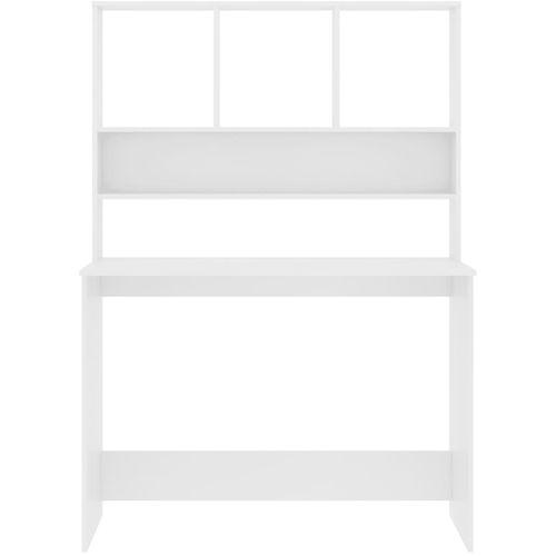 Radni stol s policama bijeli 110 x 45 x 157 cm od iverice slika 12