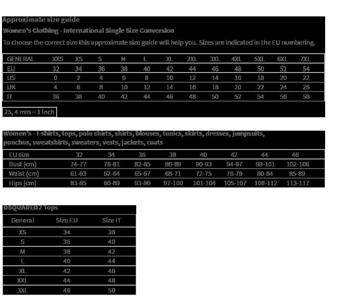 Tablica veličina za brand Armani Exchange