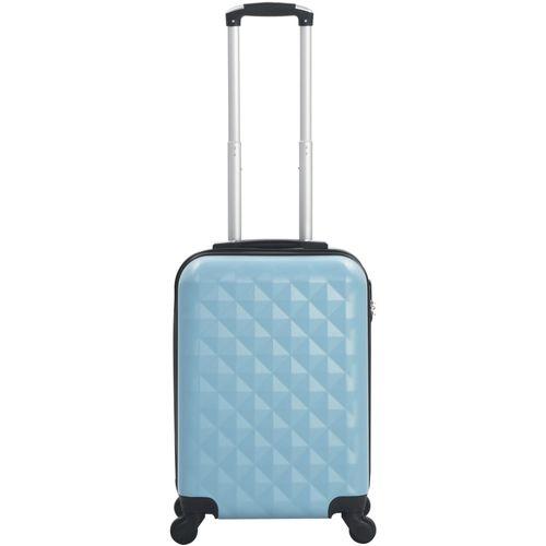 Čvrsti kovčeg s kotačima plavi ABS slika 8