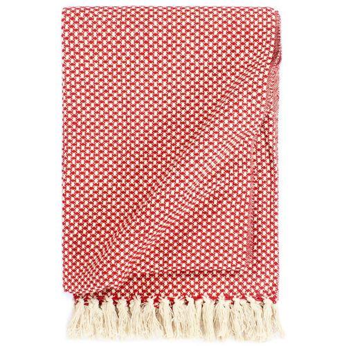 Pamučni pokrivač 220 x 250 cm crveni  slika 1