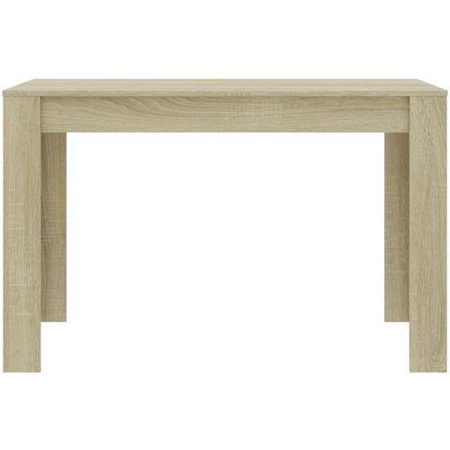 Blagovaonski stol boja hrasta sonome 120 x 60 x 76 cm iverica slika 4