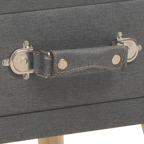 Noćni ormarić od tkanine tamnosivi 40 x 35 x 40 cm slika 7