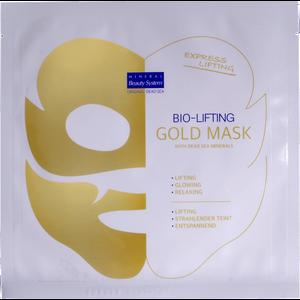 """Zlatna maska za lice sa organskim Botoxom i mineralima Mrtvog mora, vašoj koži daje trenutni snažni """"face lifitng"""" Ova celulozna maska svojim mikro kristalima brzo i duboko prenosi  serum u kožu što trenutačno čini vašu kožu spremnom za """"crveni tepih"""""""