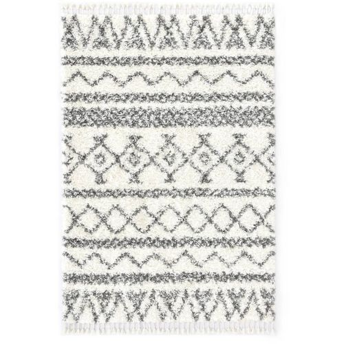 Čupavi berberski tepih PP bež i sivi 160 x 230 cm slika 7