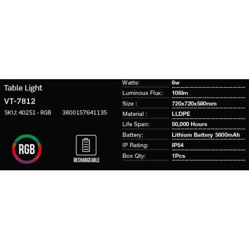 LED bežična punjiva rasvjeta — TABLE slika 2
