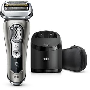 Braun Series 9 9365cc, brijaći aparat nove generacije, boje grafita, punjiv i bežičan, za mokro i suho brijanje, s mrežicom, jedinica za čišćenje i punjenje, tekstilni putni etui, litij-ionska baterija za dulji rad (60 minuta), 100% vodootporan