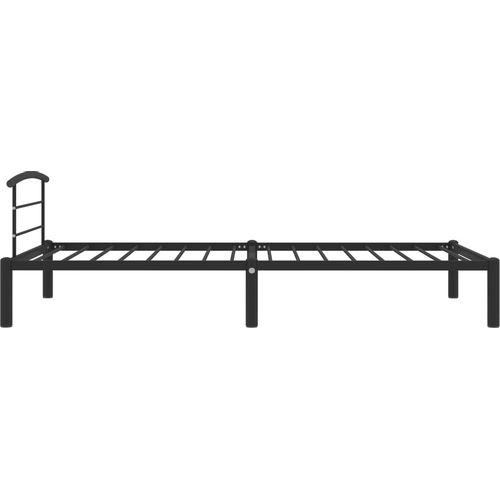 Okvir za krevet crni metalni 100 x 200 cm slika 4