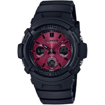 CASIO G-Shock muški sat AWG-M100SAR-1AER je s razlogom jedan od najpopularnijih proizvoda iz CASIO kolekcije. Predivan muški sat na kojem dominira crna boja kućišta te crvena boja brojčanika. Silikon i crna boja remena doista su odlična kombinacija. Ovaj prekrasan CASIO muški sat pokreće quartz mehanizam.