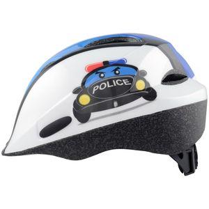 Zabavna i kvalitetna dječja kaciga bijele boje sa slikom policijskog auta. Funkcionalna kaciga kojoj se veličina može prilagoditi pomoću rotacijskog mehanizma što omogućava da stoji čvrsto i stabilno na glavi te na taj način pruža sigurnost vašem djete...