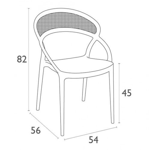 Dizajnerska stolica — BONZINI S slika 15