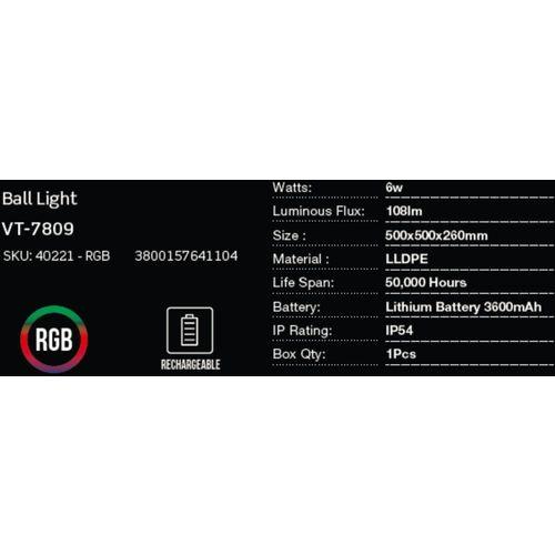 LED bežična punjiva rasvjeta — BALL slika 2