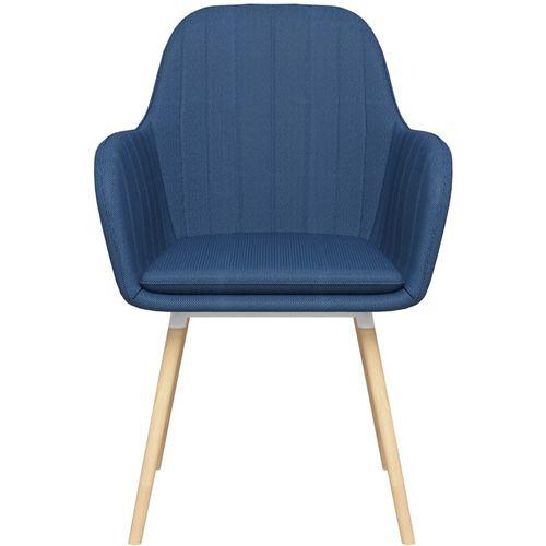 Blagovaonske stolice s naslonima za ruke 2 kom plave od tkanine slika 3