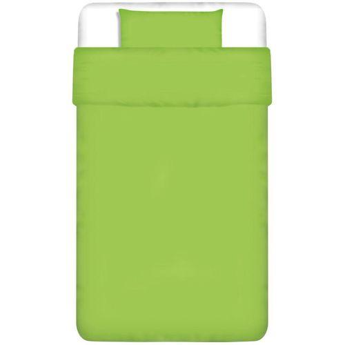 Dvodijelna Posteljna Garnitura Pamuk Zelena boja 135x200/60x70 cm slika 1