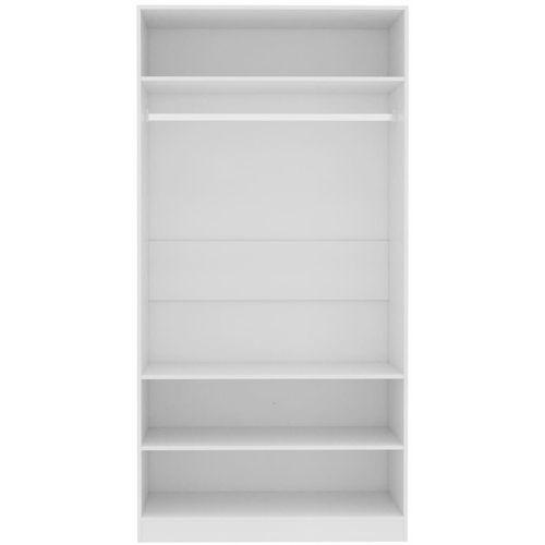 Ormar bijeli 100 x 50 x 200 cm od iverice slika 13