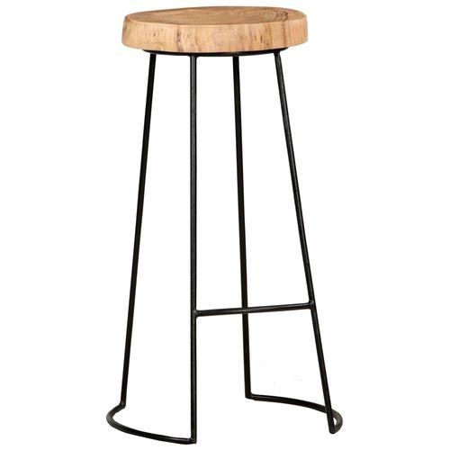Barski stolci 2 kom od masivnog bagremovog drva slika 2