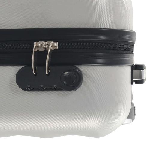 Čvrsti kovčeg s kotačima žarko srebrni ABS slika 7