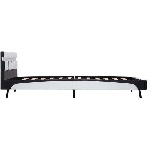 Okvir za krevet od umjetne kože LED bijeli 160 x 200 cm slika 5