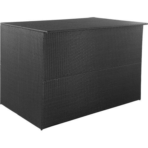 Vrtna kutija za pohranu od poliratana crna 150 x 100 x 100 cm slika 1