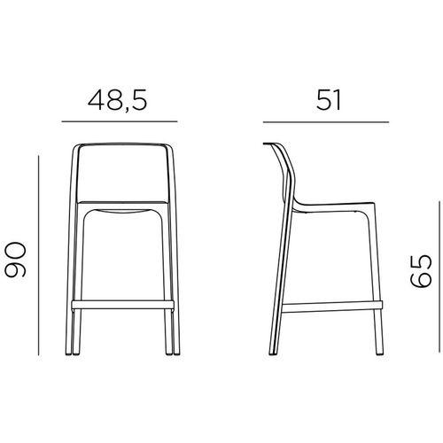 Dizajnerske barske stolice — GALIOTTO N • 2 kom. slika 2