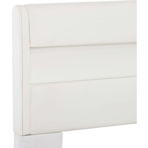 Okvir za krevet od umjetne kože LED bijeli 140 x 200 cm  slika 15