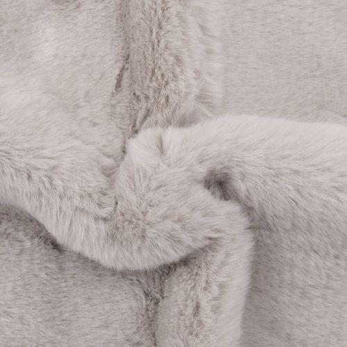 Tepih od umjetnog zečjeg krzna 65 x 95 cm sivi slika 2