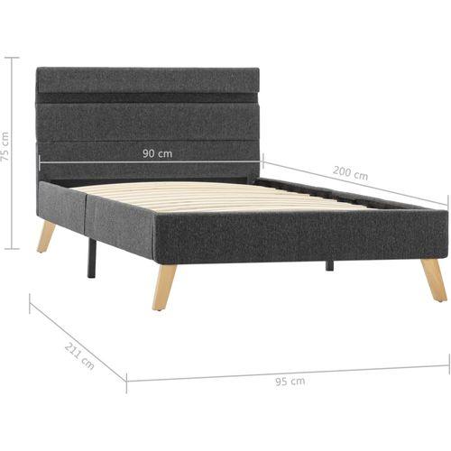 Okvir za krevet od tkanine LED tamnosivi 90 x 200 cm slika 13