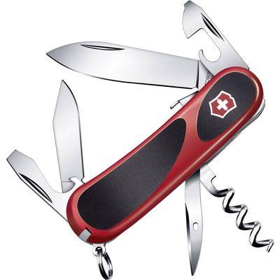 Nož švicarske vojske srednje veličine sa oštricom za zaključavanje i 11 drugih funkcija. Neklizajuća gumena drška.Ovaj tekst je strojno preveden.