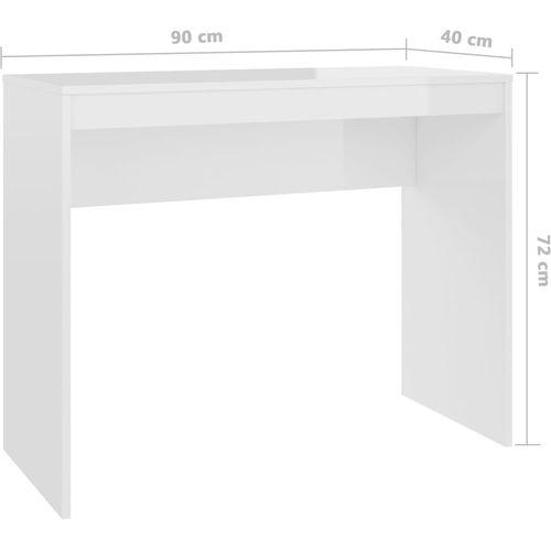 Radni stol visoki sjaj bijeli 90 x 40 x 72 cm od iverice slika 25