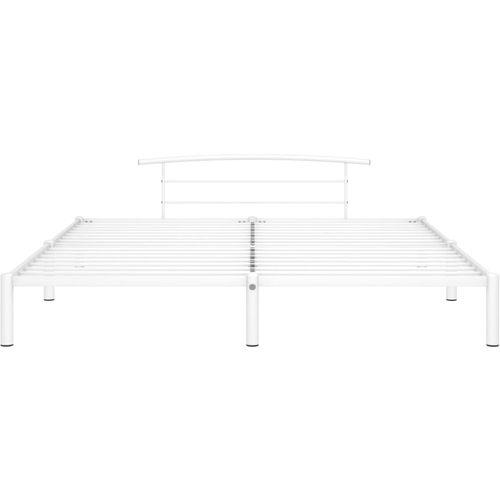 Okvir za krevet bijeli metalni 200 x 200 cm slika 3
