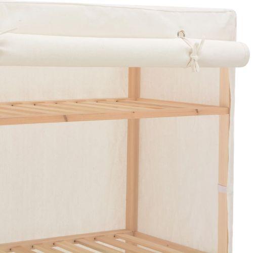 Ormar od tkanine bijeli 79 x 40 x 170 cm  slika 8