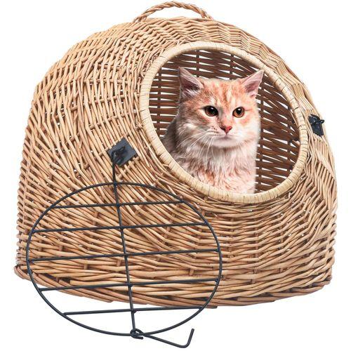 Transporter za mačke 50 x 42 x 40 cm od prirodne vrbe slika 1