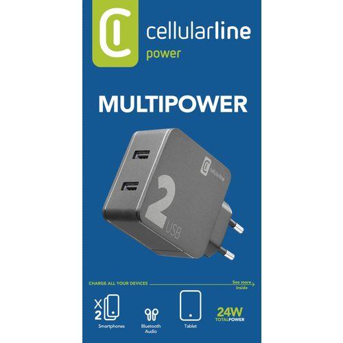 Cellularline kućni punjač Multipower 2 24W slika 3