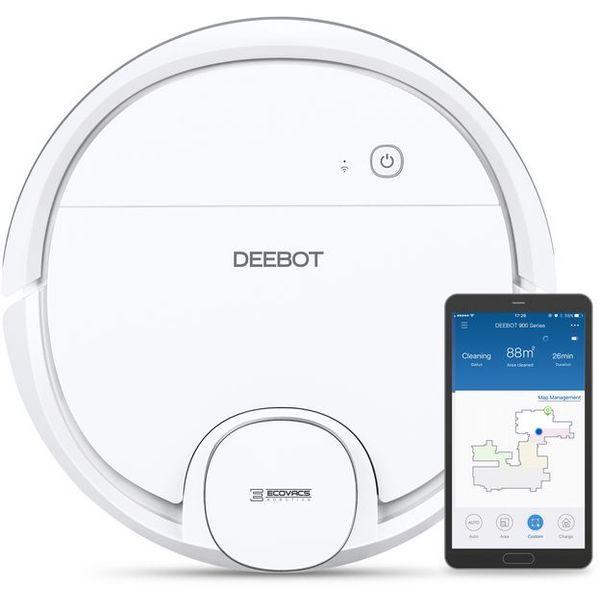S DEEBOT OZMO 905 otkrijte svijet inteligentnih robota za kućanstvo. Sa sustavnom navigacijom, integriranim sustavom za usisavanje i brisanje/pranje te automatskom postavkom pojačanja snage na tepisima ovaj DEEBOT je iznimno učinkovit pri obavljanju različitih zadaća čišćenja.