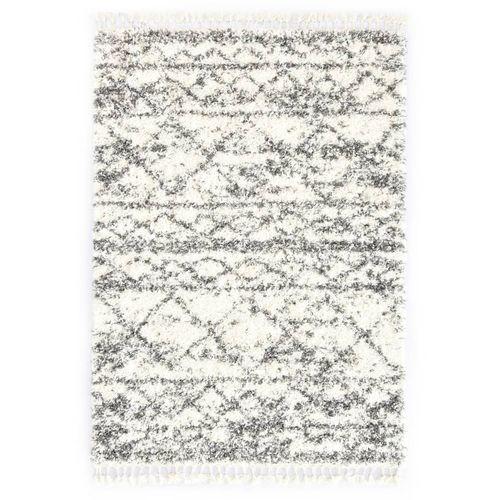 Čupavi berberski tepih PP bež i boja pijeska 120 x 170 cm slika 5