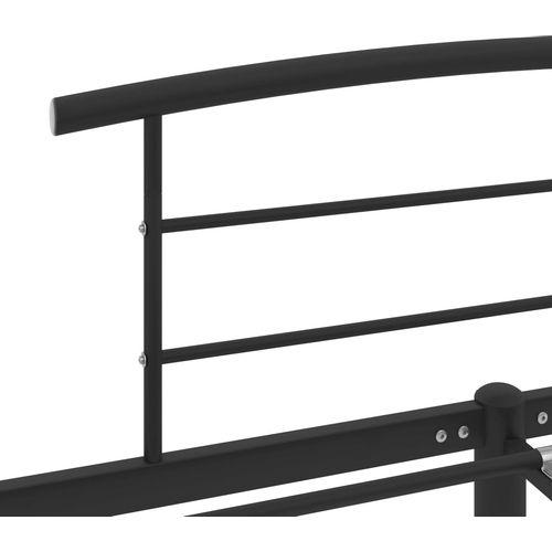 Okvir za krevet crni metalni 160 x 200 cm slika 5