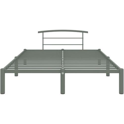 Okvir za krevet sivi metalni 140 x 200 cm slika 8