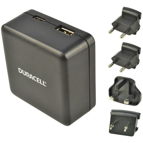 Duracell Travel Adapter Charger - Type-C/Type-A - 3A + 2.4A - Black  slika 3