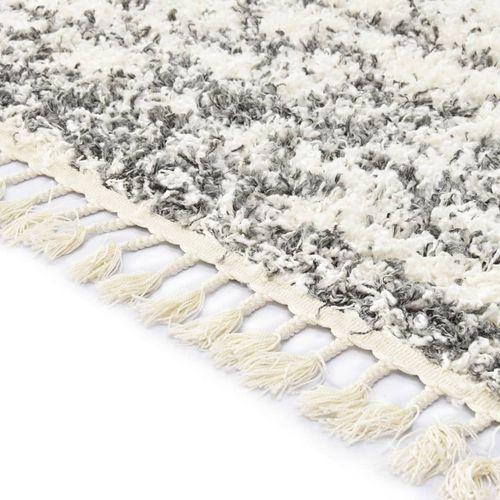 Čupavi berberski tepih PP bež i boja pijeska 120 x 170 cm slika 3
