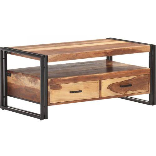 Stolić za kavu 100 x 55 x 45 cm od bagremovog drva i šišama slika 12