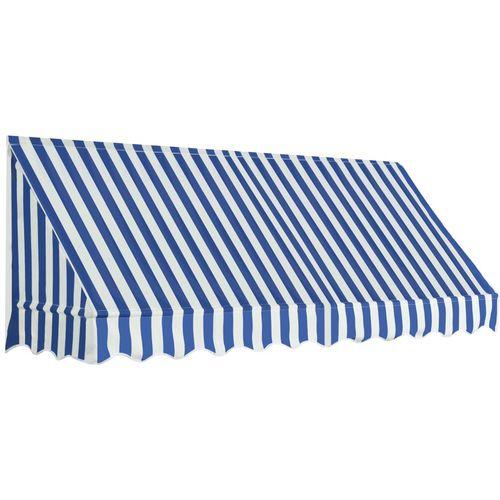 Bistro tenda 250 x 120 cm plavo-bijela slika 10