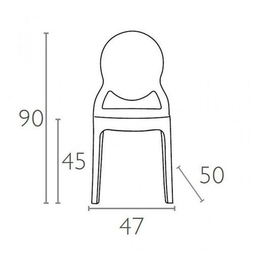 Dizajnerska stolica — POLY OVAL slika 44