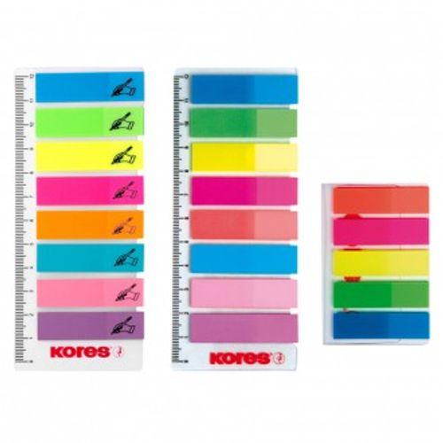 Blok zastavice samoljepljive 12 x 45 mm 25 zastavica 8 neonskih boja Kores; znak za potpis slika 1
