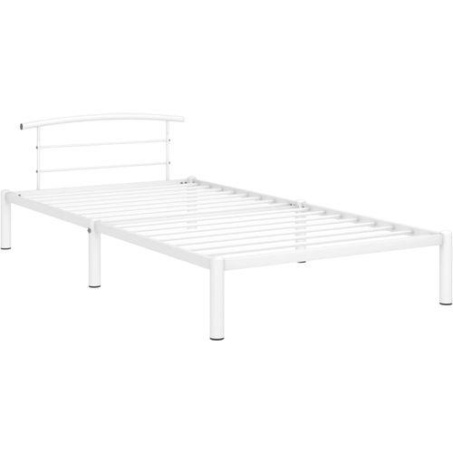 Okvir za krevet bijeli metalni 90 x 200 cm slika 3