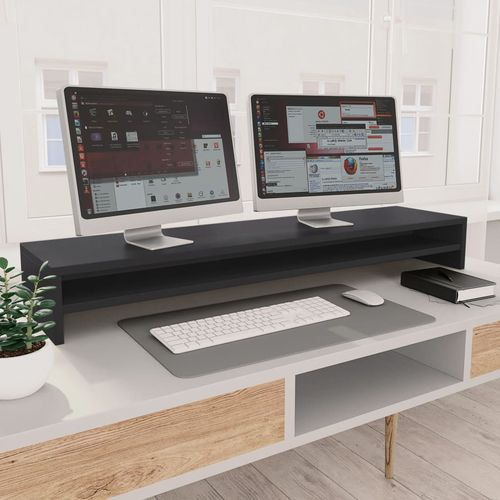 Stalak za monitor sivi 100 x 24 x 13 cm od iverice slika 15