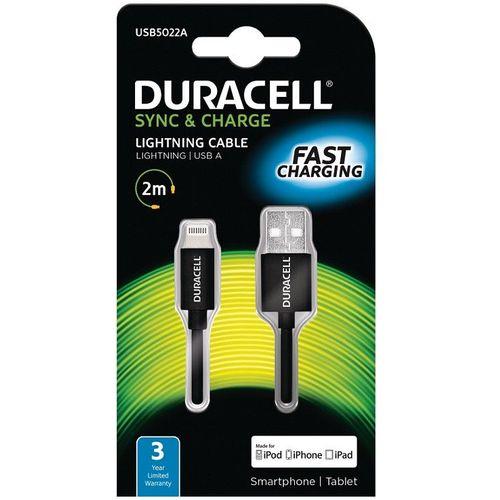 Duracell Kabel – Lightning to USB 2m - Black slika 1