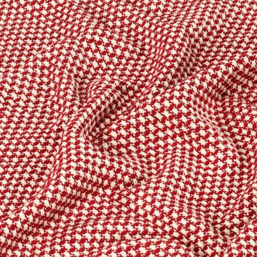 Pamučni pokrivač 220 x 250 cm crveni  slika 2